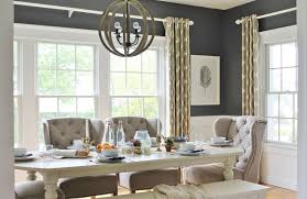 summer tourdining room linen tufted chairs ikat drapeswest elm modern farmhouse dining table r84