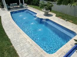 indiana inground fiberglass pool with Fountain