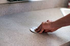 sanding laminate counters for concrete