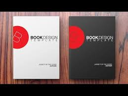 tamplate how to create a book design template in photoshop youtube