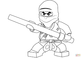 Small Picture Lego Ninjago Cole the Black Ninja coloring page Free Printable