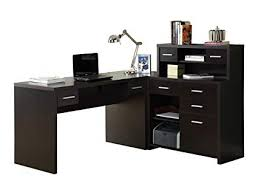 Image Black Image Unavailable Amazoncom Amazoncom Monarch Specialties Hollowcore Lshaped Home Office