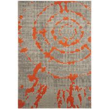 gray and orange area rug  cievi – home