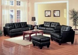 Living Room Sofa And Loveseat Sets 2 Pc Black Bonded Leather Stylish Sofa Loveseat Set