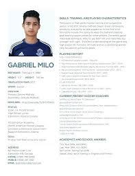 Soccer Player Resume Sample