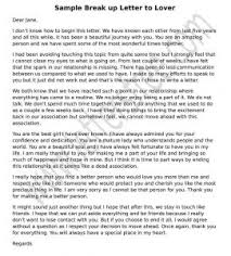 Sample Break Up Letter To Lover Free Letters