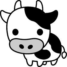 牛のイラスト白黒 無料フリーイラスト素材集frame Illust