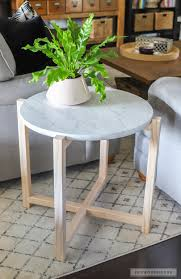diy faux marble round table