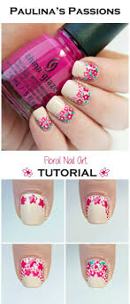 Easy Floral Nail Designs Easy Floral Nail Art Tutorial Nails Floral Nail Art Nail Art