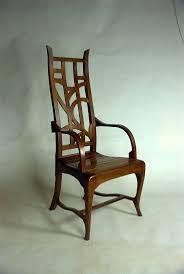 modern art nouveau furniture. Custom Made Modern Mackintosh Inspired Great Chair In Walnut Art Nouveau Furniture H