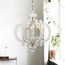 Farmhouse Chandelier Lighting Details About Farmhouse Chandelier Lighting 6 Lights Wooden Ceiling Lights Antique White Used