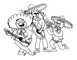 We have collected 31+ cinco de mayo coloring page images of various designs for you to color. Mariachi Band In Cinco De Mayo Coloring Pages Best Place To Color