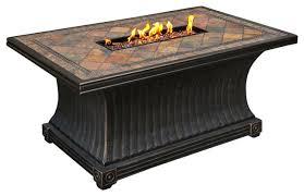 wondrous gas fire pit table rectangular slate top gas fire pit table fire tuscany 48 round
