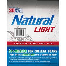 Pack Of Natty Light Natural Light Beer 30 Pack 12 Fl Oz Cans Walmart