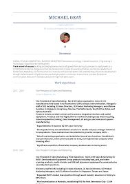 Salesarketinganager Resume Samples Velvet Jobs Profile