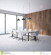 Meeting Room Wall Design Wooden Wall Meeting Room Corner Stock Illustration