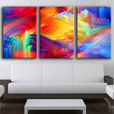 3 piece canvas print. Contemporary Print HD 3 Piece Canvas Prints Painting Colorful Spot The Pattern Paint  Rainbow Oil Picture In Print M