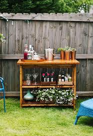 diy indoor outdoor bart cart table
