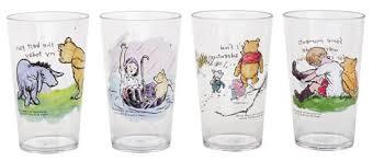 pooh poohisms acrylic 8 oz juice glasses set of 4