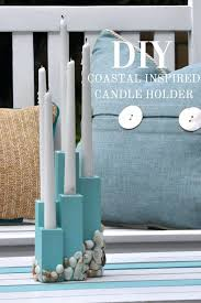 beach candle holder diy beach wine glass candle holders