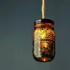 mason jar pendant lighting. Pretty Mason Jar Pendant Lighting With Artistic Patterns G