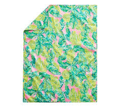 lilly pulitzer muslin palm baby blanket