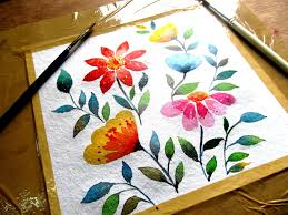 Simple Painting Simple Flower Painting With Watercolor Watercolor Painting For