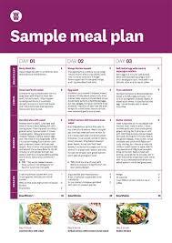 Sample Meal Plan For Ww Weight Watchers Ww Australia