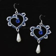 wire wrapped heart pendant earrings 1