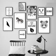 geometric bear head wall art