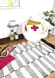 black and white striped rug 5x7 furniture fabric paint home
