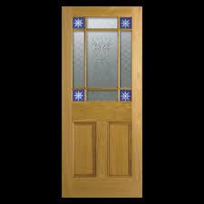downham oak flat panel glazed unfinished internal door with glass pack