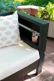 diy outdoor furniture couch. Interesting Diy DIY Outdoor Sofa  Shelf In The Armrest For Diy Furniture Couch O