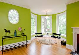 Lime Green Living Room For Eclectic