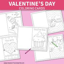 These free, printable valentine's day coloring pages are fun for kids! Printable Coloring Valentines Day Cards Messy Little Monster