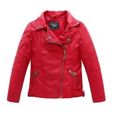 details about spring baby boys faux leather jacket kids girl coat casual black solid outerwear