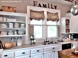 Kitchen Window Treatments Our Vintage Home Love Inexpensive Window Treatments And A Giveaway