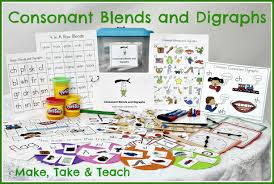 Consonant Blend Chart Printable Teaching Blends And Digraphs Make Take Teach