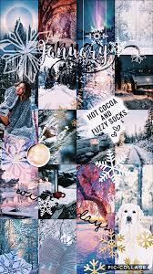 January Wallpaper VSCO edit