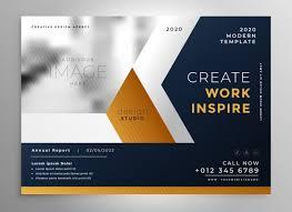 Modern Business Brochure Template Design Vector Free Download