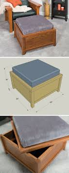 Storage Ottoman Plans Best 25 Small Storage Ottoman Ideas On Pinterest Storage