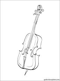 Cello Kleurplaat Gratis Kleurplaten