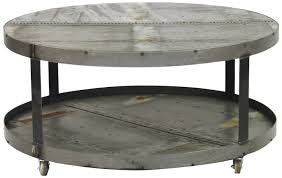 portable round metal coffee table grey round steel
