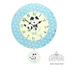 pendulum clock wall clock waterdrop and import rl wdc pend spot made in dog nursery light blue blue baby foreign countries