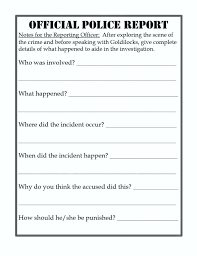 Discrepancy Report Template Example Incident Form Police Arrest Format
