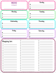 Free Weekly Meal Planner With Grocery List Free Printables Weekly Meal Planner Grocery List The Housewife