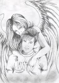 Angel Sketch Angel And Boy