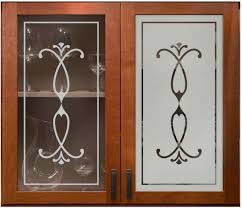 Marvelous Etched Glass Designs For Kitchen Cabinets 12 For New Trends With  Etched Glass Designs For Kitchen Cabinets