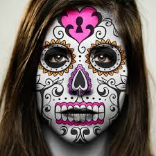 day of the dead makeup with one sugar skull embellishments