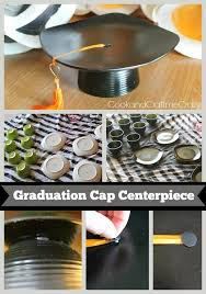 recycled dishes graduation cap centerpieces 18eb7f54346ea8fe6b76f1c8135f78c7